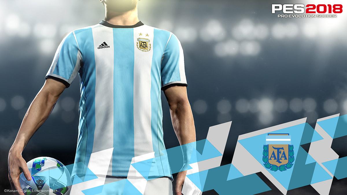 a0927c034 PES 2018 - Konami Partners With Argentine Football Association ...